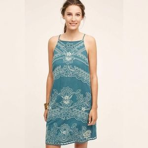 9720 Floreat Anthropologie Broderie Mini Dress XS